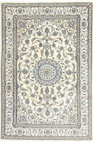 Nain Covor 195X300 Orientale Lucrat Manual Bej/Gri Deschis/Gri Închis (Lână, Persia/Iran)