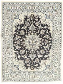 Nain Covor 145X196 Orientale Lucrat Manual Gri Deschis/Bej (Lână, Persia/Iran)