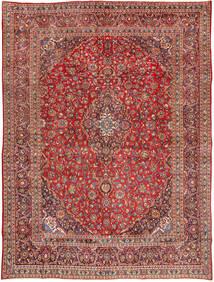 Mashhad Covor 285X385 Orientale Lucrat Manual Roșu-Închis/Maro Închis Mare (Lână, Persia/Iran)