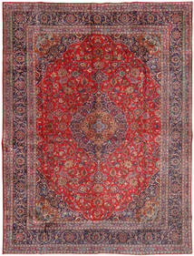 Mashhad Covor 300X400 Orientale Lucrat Manual Roșu-Închis/Roşu Închis Mare (Lână, Persia/Iran)