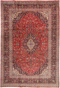 Yazd Covor 243X358 Orientale Lucrat Manual Roșu-Închis/Maro Închis (Lână, Persia/Iran)