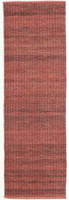 Alva - Dark_Rust/Negru Covor 80X250 Modern Lucrate De Mână Roșu-Închis/Maro Închis (Lână, India)