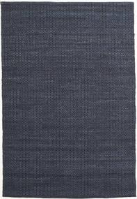 Alva - Albastru/Negru Covor 160X230 Modern Lucrate De Mână Albastru Închis/Violet Deschis (Lână, India)