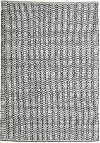 Alva - Gri/Negru Covor 140X200 Modern Lucrate De Mână Gri Închis/Gri Deschis (Lână, India)