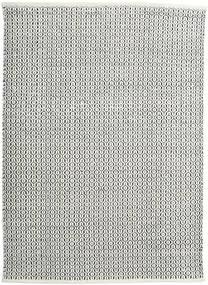 Alva - White/Negru Covor 140X200 Modern Lucrate De Mână Gri Închis/Gri Deschis (Lână, India)