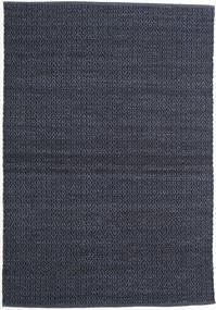 Alva - Albastru/Negru Covor 140X200 Modern Lucrate De Mână Albastru Închis/Violet Deschis (Lână, India)