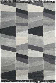 Viola - Gri/Negru Covor 160X230 Modern Lucrate De Mână Gri Închis/Albastru Turcoaz (Lână, India)