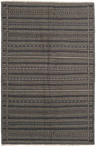 Chilim Covor 155X236 Orientale Lucrate De Mână Gri Închis/Negru/Gri Deschis (Lână, Persia/Iran)