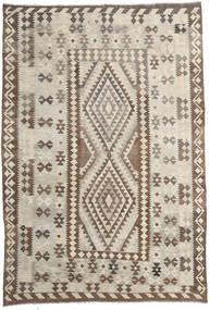 Chilim Afghan Old Style Covor 200X293 Orientale Lucrate De Mână Gri Deschis/Maro (Lână, Afganistan)