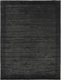Handloom Frame - Negru/Gri Închis Covor 300X400 Modern Gri Închis/Verde Închis Mare (Lână, India)