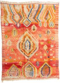 Berber Moroccan - Mid Atlas Covor 221X295 Modern Lucrat Manual Portocaliu/Bej Închis (Lână, Maroc)