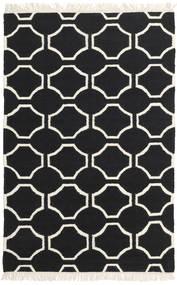 London - Negru/Alburiu Covor 160X230 Modern Lucrate De Mână Negru/Bej (Lână, India)