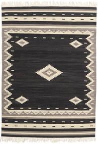 Tribal - Negru Covor 160X230 Modern Lucrate De Mână Negru/Bej (Lână, India)