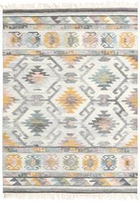 Mirza Covor 160X230 Modern Lucrate De Mână Gri Deschis/Bej (Lână, India)
