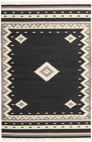 Tribal - Negru Covor 200X300 Modern Lucrate De Mână Negru/Bej (Lână, India)