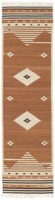 Tribal - Mustard Yellow Covor 80X300 Modern Lucrate De Mână Maro/Maro Deschis/Bej (Lână, India)