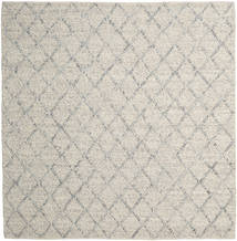 Rut - Argintiu/Gri Melange Covor 250X250 Modern Lucrate De Mână Pătrat Gri Deschis/Bej Închis Mare (Lână, India)