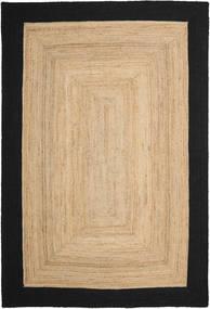 Covor Exterior Frida Frame - Natural/Negru Covor 200X300 Modern Lucrate De Mână Bej Închis/Negru/Bej (Covor De Iută India)