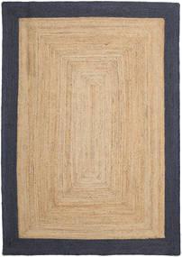 Covor Exterior Frida Frame - Natural/Navy Covor 160X230 Modern Lucrate De Mână Bej Închis/Negru/Bej (Covor De Iută India)