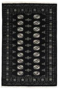Pakistan Bukhara 3Ply Covor 138X208 Orientale Lucrat Manual Negru (Lână, Pakistan)