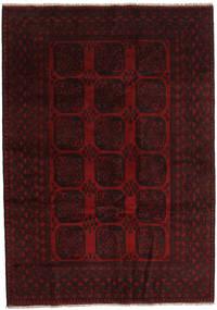 Afghan Covor 203X286 Orientale Lucrat Manual Roșu-Închis (Lână, Afganistan)