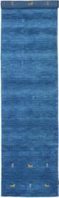 Gabbeh Loom Two Lines - Albastru Covor 80X350 Modern Albastru/Albastru Închis (Lână, India)