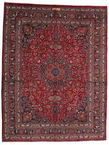 Mashhad Covor 302X393 Orientale Lucrat Manual Roșu-Închis/Gri Închis Mare (Lână, Persia/Iran)