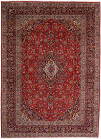 Kashan Covor 297X410 Orientale Lucrat Manual Roșu-Închis/Gri Închis Mare (Lână, Persia/Iran)