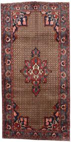 Koliai Covor 145X287 Orientale Lucrat Manual Maro Închis/Roșu-Închis (Lână, Persia/Iran)