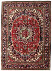 Tabriz Covor 247X344 Orientale Lucrat Manual Maro Închis/Roșu-Închis (Lână, Persia/Iran)
