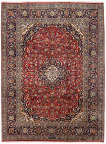 Kashan Covor 251X338 Orientale Lucrat Manual Roșu-Închis/Maro Închis Mare (Lână, Persia/Iran)