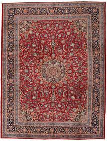 Mashhad Covor 302X395 Orientale Lucrat Manual Roșu-Închis/Maro Închis Mare (Lână, Persia/Iran)