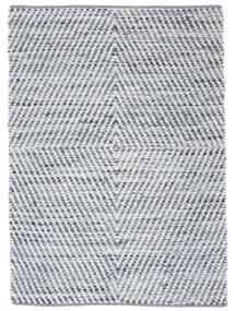 Hilda - Denim/White Covor 140X200 Modern Lucrate De Mână Bej/Albastru Deschis (Bumbac, India)