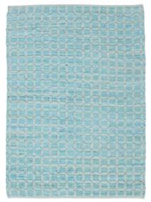 Elna - Bright_Blue Covor 140X200 Modern Lucrate De Mână Albastru Deschis/Albastru Turcoaz (Bumbac, India)