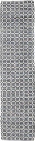Elna - Gri Covor 80X250 Modern Lucrate De Mână Gri Deschis/Violet Deschis (Bumbac, India)