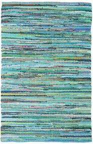 Ronja - Verde Mix Covor 140X200 Modern Lucrate De Mână Albastru Turcoaz/Albastru Deschis (Bumbac, India)