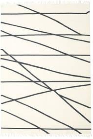Cross Lines - Alburiu/Negru Covor 200X300 Modern Lucrate De Mână Bej/Bej-Crem (Lână, India)