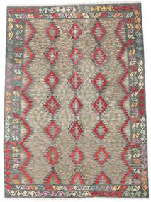 Chilim Afghan Old Style Covor 179X248 Orientale Lucrate De Mână Gri Închis/Gri Deschis (Lână, Afganistan)
