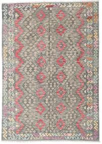 Chilim Afghan Old Style Covor 179X255 Orientale Lucrate De Mână Gri Deschis/Gri Închis (Lână, Afganistan)