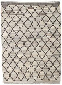 Chilim Ariana Covor 134X181 Modern Lucrate De Mână Gri Deschis/Gri Închis (Lână, Afganistan)
