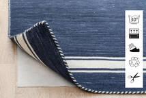 Anti Slip, Non-Woven Covor 80X150 Modern Albastru/Gri Deschis ( Belgia)