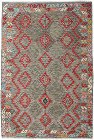 Chilim Afghan Old Style Covor 169X251 Orientale Lucrate De Mână Gri Deschis/Gri Închis (Lână, Afganistan)