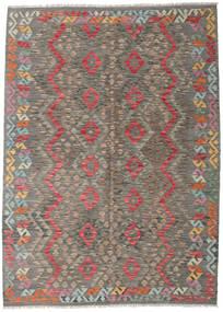Chilim Afghan Old Style Covor 171X239 Orientale Lucrate De Mână Gri Deschis/Gri Închis (Lână, Afganistan)
