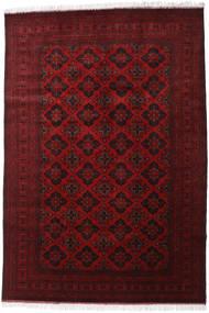 Afghan Khal Mohammadi Covor 200X293 Orientale Lucrat Manual Roșu-Închis/Roşu (Lână, Afganistan)