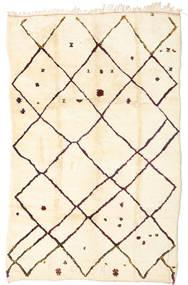 Berber Moroccan - Beni Ourain Covor 198X312 Modern Lucrat Manual Bej/Bej Închis (Lână, Maroc)