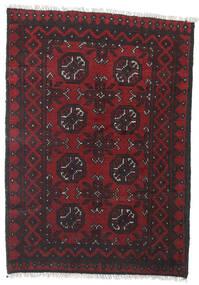 Afghan Covor 78X109 Orientale Lucrat Manual Roșu-Închis/Negru (Lână, Afganistan)