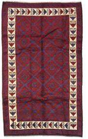Beluch Covor 160X255 Orientale Lucrat Manual Mov Închis/Roșu-Închis (Lână, Afganistan)