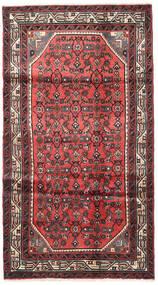 Hosseinabad Covor 103X190 Orientale Lucrat Manual Roșu-Închis/Ruginiu (Lână, Persia/Iran)