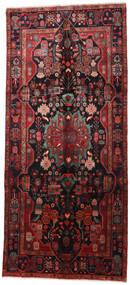 Nahavand Covor 160X360 Orientale Lucrat Manual Roșu-Închis/Negru (Lână, Persia/Iran)