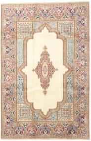 Kerman Covor 200X303 Orientale Lucrat Manual Bej/Maro Închis (Lână, Persia/Iran)